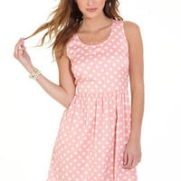 Blush Polka Dot Dress