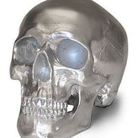  Silver Human Skull Money Bank