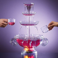 Lighted Punch Fountain with Cups