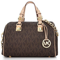 MICHAEL Michael Kors Handbag, Grayson Monogram Medium Satchel - Handbags & Accessories - Macy's