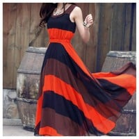 Hottest Color Block Maxi