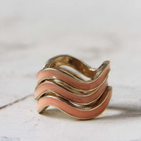 Shadow Ridge Ring in Peach, Sweet Bohemian Jewelry