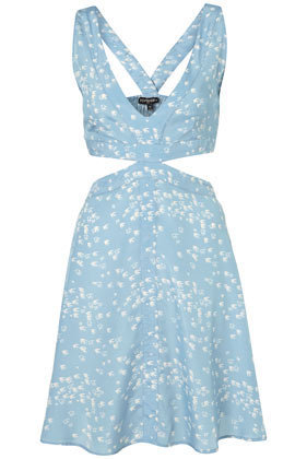 Blue Bird Cut Out Cover Up - Swimwear - Clothing - Topshop