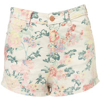 Coated Floral Hot Pants - Shorts - Clothing - Topshop USA