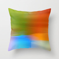 Colors Of Spring Throw Pillow by Lena Weisbek