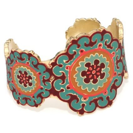 Lucky Brand &quotGypsy Soul&quot Green Enamel Toggle Bracelet - designer shoes, handbags, jewelry, watches, and fashion accessories | endless.com