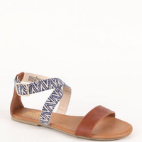 Black Poppy Ankle Cross Sandals at PacSun.com