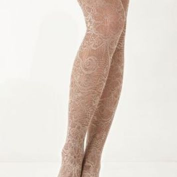 Sunset Scrolls Tights