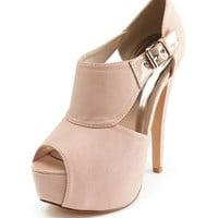Matte Side-Cutout Platform Bootie: Charlotte Russe