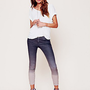 Free People Dip Dye 5 Pocket Skinny Jeans