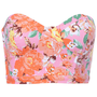 ROMWE | Pink Floral Print Bandeau, The Latest Street Fashion