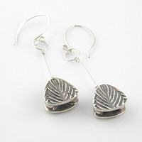 Tandem Toggle Pure Silver Earrings