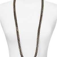 Kenneth Jay Lane Cord Lapis Twisted Stone Necklace, 40"