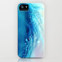 blue feather iPhone Case by Sylvia Cook Photography