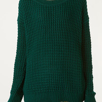 Knitted Grunge Jumper - Topshop