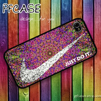 Nike JUST DO IT with aztec summer style : Handmade Case for Iphone 4/4s , Iphone 5 Case Iphone