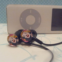 Marilyn Monroe black Earbuds