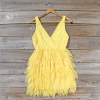 Drizzling Mist Dress in Lemon, Sweet Women's Party & Bridesmaid Dresses