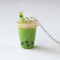 Scented Bubble Tea Necklace - Apple