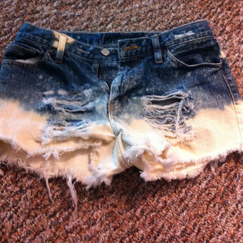 Destroyed Denim Jean Shorts