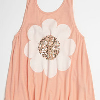 Flowers by Zoe 'Sequin Flower' Top (Big Girls) | Nordstrom