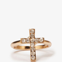 Rhinestone Cross Ring | FOREVER 21 - 1051706643