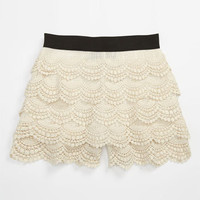 Un Deux Trois Lacy Crochet Shorts (Big Girls) | Nordstrom
