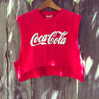 Vintage Reworked Coca Cola crop shirt
