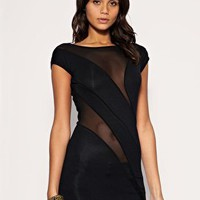 ASOS | ASOS Colourblock Body-Conscious Mesh Insert Top at ASOS