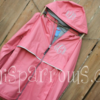 Monogrammed Rain Coat