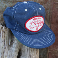 Vintage Blue Denim Ladshaw Explosives Inc Trucker's Hat // Vintage Denim Cap