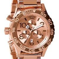 Nixon 42-20 Chrono All Rose Gold Watch - Free Shipping from Watchismo