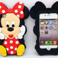 Amazon.com: Minidandan3d Cute Cartoon Mouse Micky Protective Silicone Gel Case Covers for Apple Iphone 4 4s Case: Cell Phones &amp; Accessories