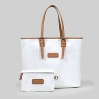 Longchamp Medium Shoulder Tote - Derby - White