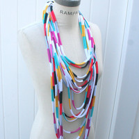 Chain Infinity Scarf Necklace FREE SHIPPING Scarves Retro Scarf - By PIYOYO