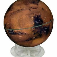 "Mars Globe - 12"" With Clear Acrylic Stand"
