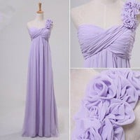 Gorgeous fantasy fairy One-shoulder Floor Length Prom Dresses from Lovely Dress