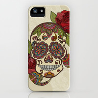 Sugar Skull iPhone Case by Valentina