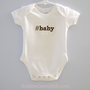 Geekery Hashtag Baby Onesuit Baby Outfit Infant Bodysuit Embroidered