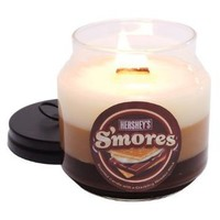 Amazon.com: Mostly Memories Hershey&#x27;s S&#x27;mores Soy Candle with Wooden Wick, 12-Ounce: Home &amp; Kitchen