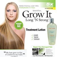 Want Longer Hair? Want Stronger Hair? Grow Hair Fast! Buy Long &#x27;N Strong Treatment Lotion - Longer, Thicker Hair! - Split End Repair - Split end treatment!
