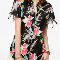 Stussy Hawaiian Print Tie-Sleeve Shirt