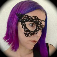 Open and Closed Tatted Lace Half Mask by TotusMel on Etsy