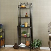 Elaine Black Iron Bakers Rack — QVC.com