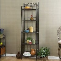 Elaine Black Iron Bakers Rack  QVC.com