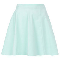 Mint Baby Cord Skater Skirt