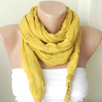 NEW 2012 Spring Model Saffron Yellow Color Web Scarf
