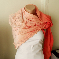 NEW 2012 Spring Model Hand Dyed Orange Color Scarf
