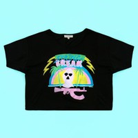 OPENING CEREMONY X SPRING BREAKERS SPRING BREAKERS CROPPED TEE - SHOP - OPENING CEREMONY X SPRING BREAKERS