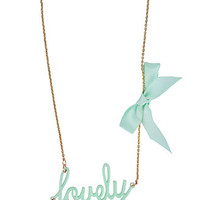 Lovely Nameplate Necklace | FOREVER 21 - 1000013129